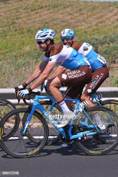 Alexandre Geniez of France and Team AG2R La Mondiale / Matteo Montaguti of Italy and Team AG2R La Mondiale / during the 101th Tour of Italy 2018,...