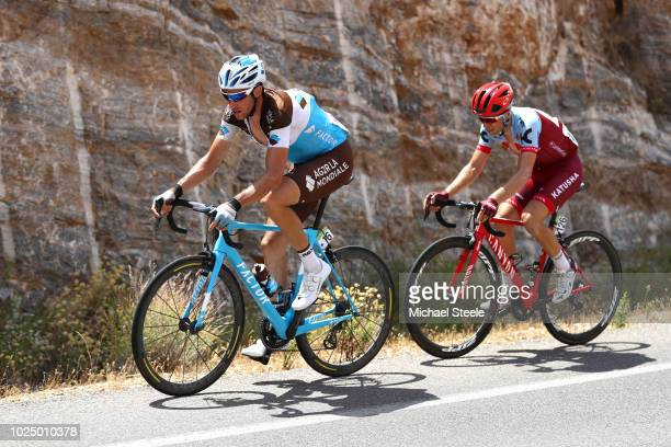 Alexandre Geniez of France and Team AG2R La Mondiale / Maurits Lammertink of The Netherlands and Team Katusha Alpecin / during the 73rd Tour of Spain...