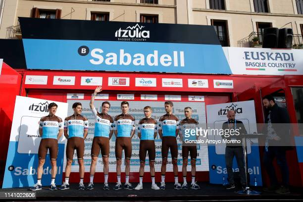 Alexandre Geniez of France and Team AG2R La Mondiale / Michael Cherel of France and Team AG2R La Mondiale / Clement Chevrier of France and Team AG2R...
