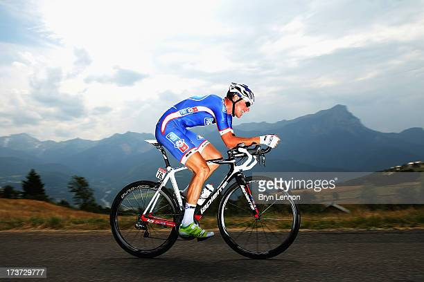 Alexandre Geniez of France and Team FDJfr rides during stage seventeen of the 2013 Tour de France a 32KM Individual Time Trial from Embrun to Chorges...