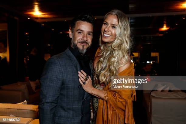 Alexandre Iodice and Adriane Galisteu attend the 7th Annual amfAR Inspiration Gala on April 27 2017 in Sao Paulo Brazil