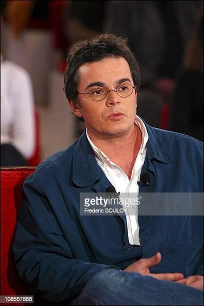 Alexandre Jardin in Paris France on January 08th 2003