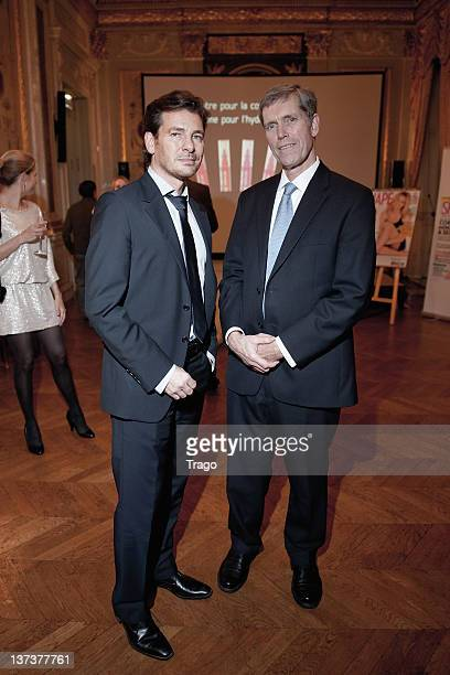 Alexandre Kara and Daniel E Harris attend 'Shape France' Magazine Cocktail Launch at Hotel Talleyrand on January 19 2012 in Paris France