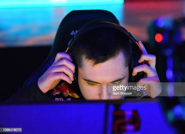 Alexandre 'Kaydop' Courant of team Dignitas sits at his station before the grand finals match of the Rocket League Championship Series World...