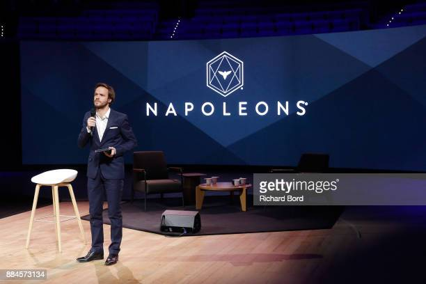 Alexandre Kouchner speaks on stage during the Introductory Session To The 7th Summit Of Les Napoleons at Maison de la Radio on December 2 2017 in...