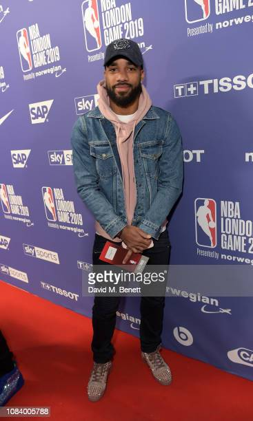 Alexandre Lacazette attends the NBA London Game 2019 between the Washington Wizards and New York Knicks at The O2 Arena on January 17 2019 in London...