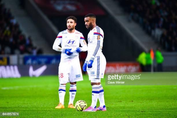 Alexandre LACAZETTE / Nabil FEKIR Lille / Lyon 27eme journee de Ligue 1 Photo Dave Winter / Icon Sport