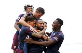 london england alexandre lacazette arsenal celebrates