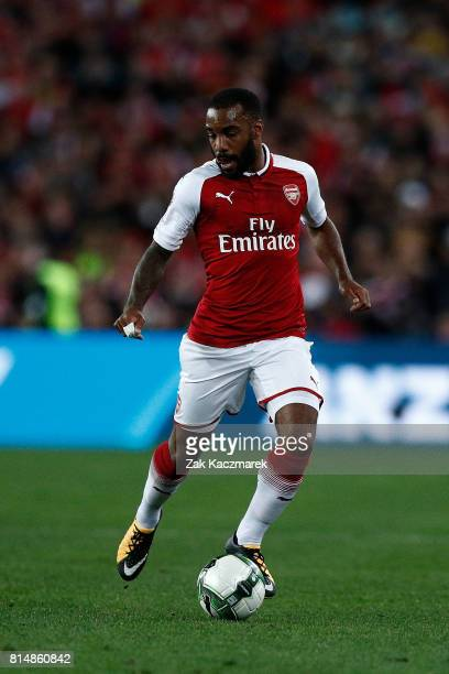 Alexandre Lacazette of Arsenal controls the ball during the match between the Western Sydney Wanderers and Arsenal FC at ANZ Stadium on July 15 2017...