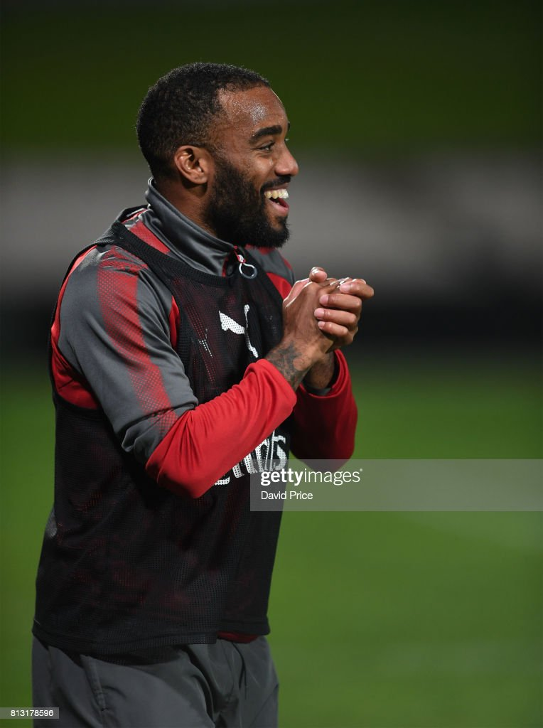 Alexandre Lacazette of Arsenal during the Arsenal Training Session at Koragah Oval on July 12, 2017 in Sydney, Australia.