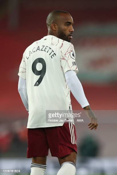 Alexandre Lacazette of Arsenal during the Premier League match between Liverpool and Arsenal at Anfield on September 28 2020 in Liverpool United...