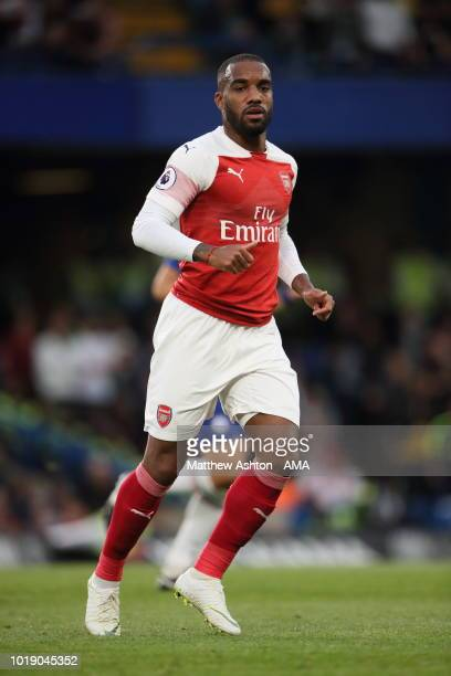 Alexandre Lacazette of Arsenal during the Premier League match between Chelsea FC and Arsenal FC at Stamford Bridge on August 18 2018 in London...