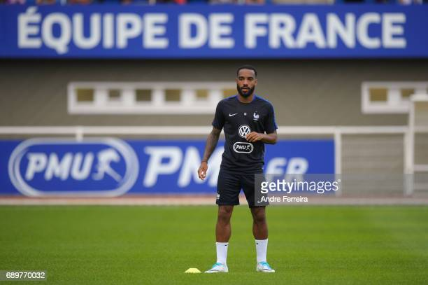 Alexandre Lacazette of France during a training session at Centre National du Football on May 29 2017 in Clairefontaine France