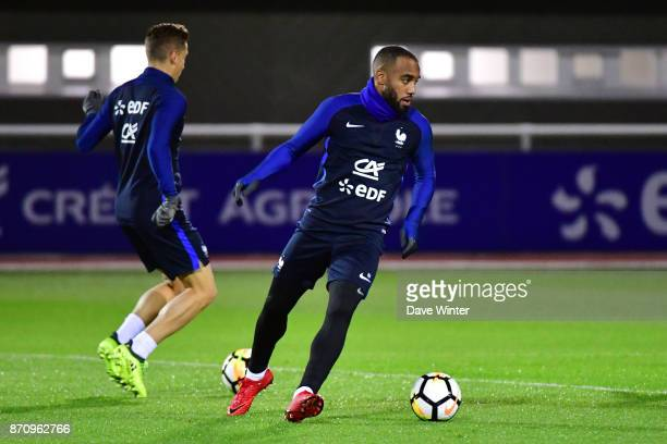 Alexandre Lacazette of France during the training session at the Centre National de Football in Clairefontaine en Yvelines France on November 6 2017