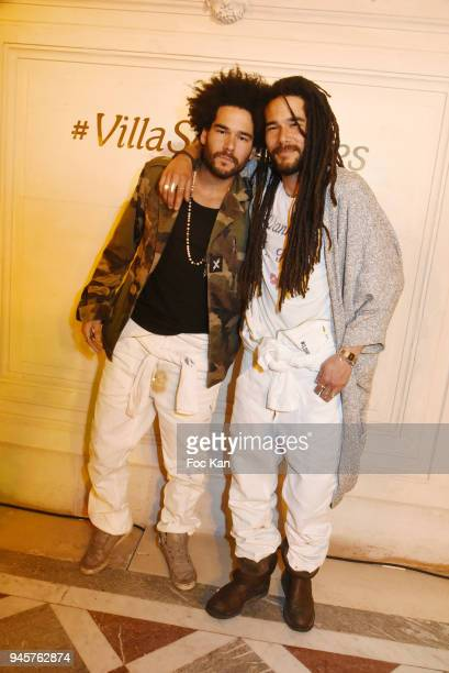Alexandre Le Strat and Nicolas Le Strat attend Villa Schweppes Party 2018 At Hotel De Salomon De Rothschild on April 12 2018 in Paris France