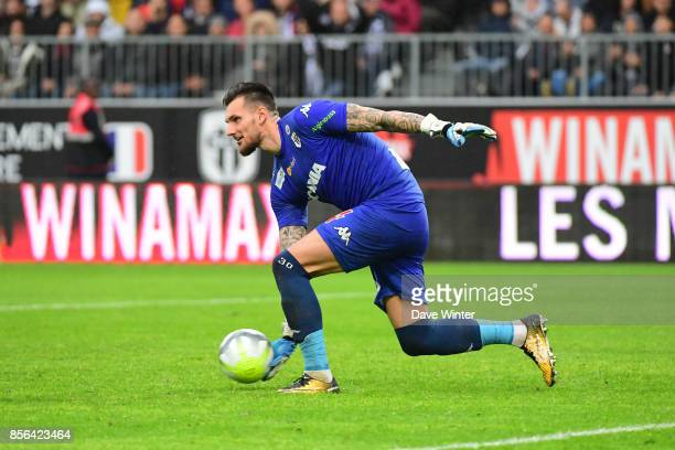 Alexandre Letellier of Angers during the Ligue 1 match between Angers SCO and Olympique Lyonnais at Stade Raymond Kopa on October 1 2017 in Angers...
