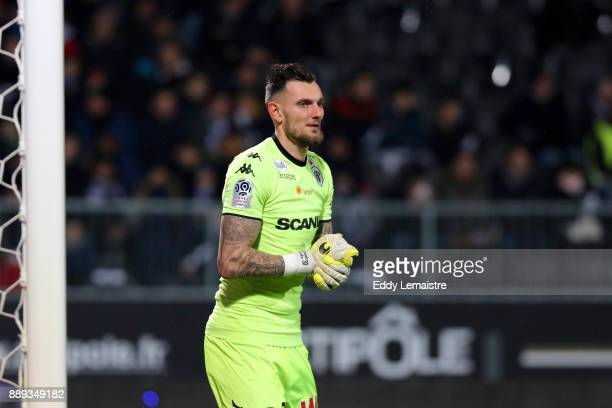 Alexandre Letellier of Angers during the Ligue 1 match between Angers SCO and Montpellier Herault SC at Stade Raymond Kopa on December 9 2017 in...
