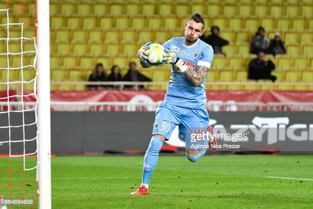 Alexandre Letellier of Angers during the Ligue 1 match between AS Monaco and Angers SCO at Stade Louis II on December 2 2017 in Monaco