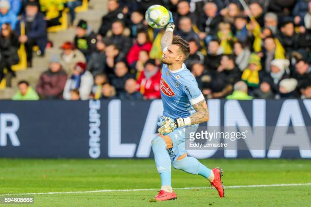 Alexandre Letellier of Angers during the Ligue 1 match between Nantes and Angers SCO at Stade de la Beaujoire on December 17 2017 in Nantes