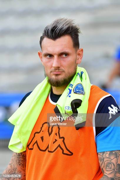 Alexandre Letellier of Troyes during the French Ligue 2 match between Paris FC and Troyes on August 31 2018 in Paris France