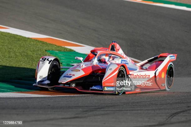 Alexandre , Mahindra Racing, Mahinda M7Electro, action during the ABB Formula E Championship official pre-season test at Circuit Ricardo Tormo in...