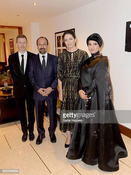 Alexandre MalletGuy director Asghar Farhadi Hanaa Issa and Doha Film Institue CEO Fatma Al Remaihi pose prior to the The Salesman Premiere at the...