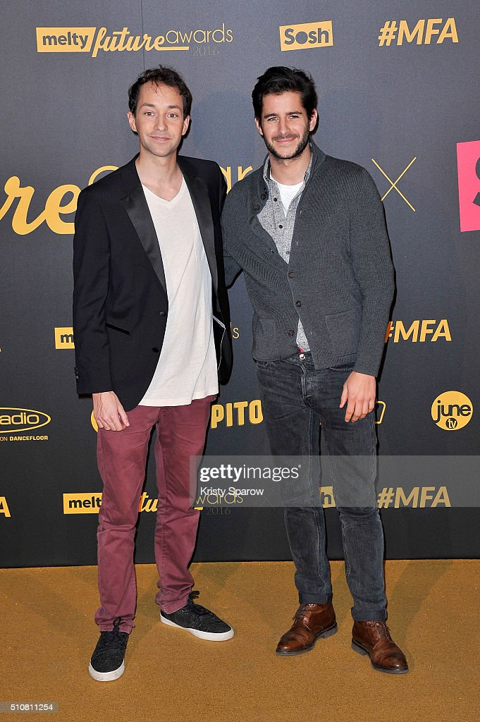 Alexandre Malsch and Guillaume Gibault attend The Melty Future Awards 2016 at Le Grand Rex on February 16, 2016 in Paris, France.
