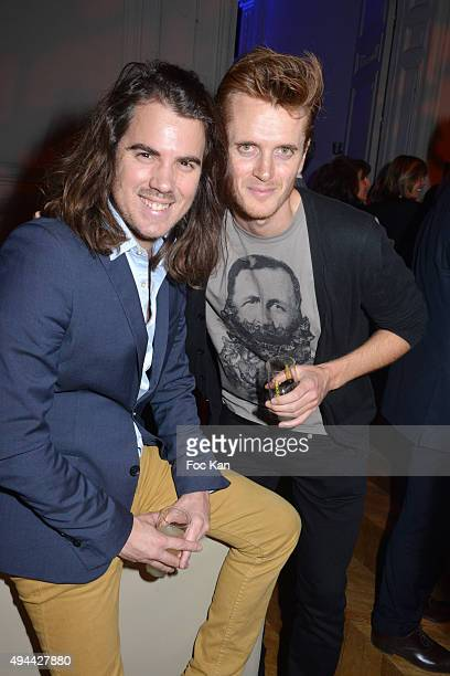 Alexandre Maras and Jean Charles Coupe attend 'Le Bal Jaune 2015' Dinner Party At Hotel Salomon de Rothschild during FIAC on October 23 2015 in Paris...