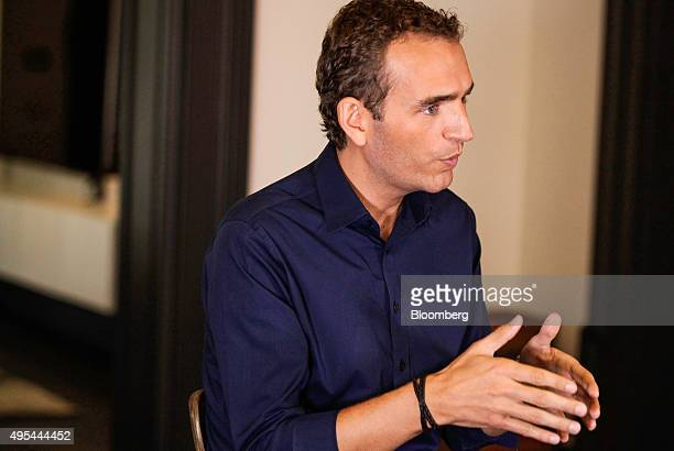Alexandre Mars founder of the New Yorkbased charity called the Epic Foundation gestures during an interview in his home in Brooklyn New York US on...