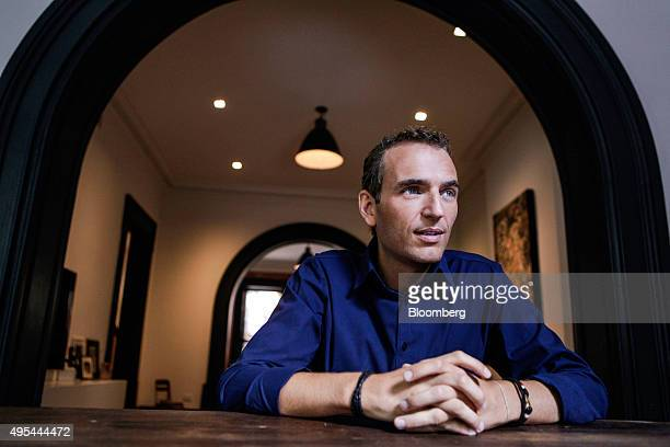 Alexandre Mars founder of the New Yorkbased charity called the Epic Foundation poses for a photograph before an interview in his home in Brooklyn New...