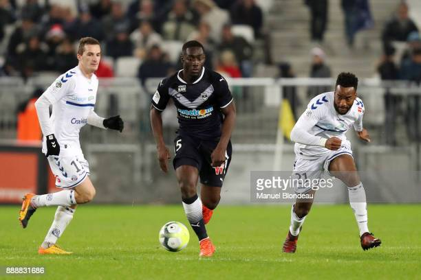 Alexandre Mendy of Bordeaux during the Ligue 1 match between FC Girondins de Bordeaux and Strasbourg at Stade Matmut Atlantique on December 8 2017 in...