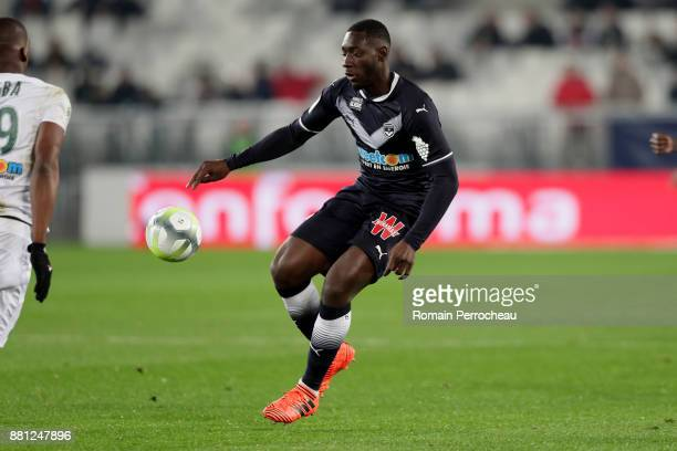 Alexandre Mendy of Bordeaux in action during the Ligue 1 match between FC Girondins de Bordeaux and AS SaintEtienne at Stade Matmut Atlantique on...