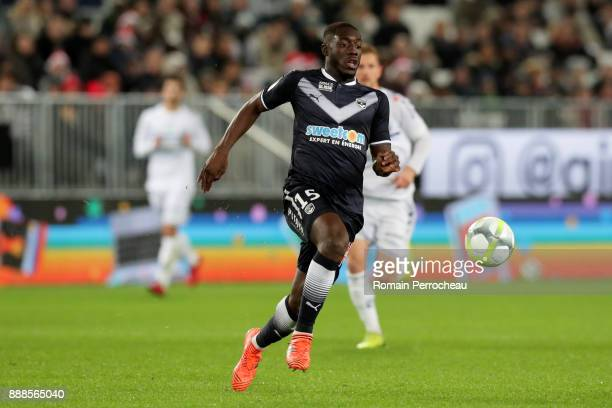 Alexandre Mendy of Bordeaux in action during the Ligue 1 match between FC Girondins de Bordeaux and Strasbourg at Stade Matmut Atlantique on December...