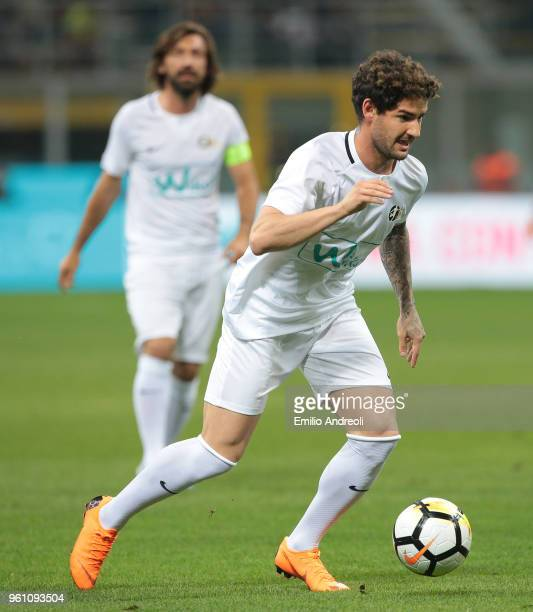 Alexandre Pato in action during Andrea Pirlo Farewell Match at Stadio Giuseppe Meazza on May 21 2018 in Milan Italy