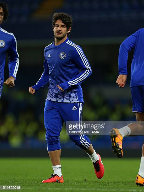 Alexandre Pato of Chelsea after the Emirates FA Cup match between Chelsea and Manchester City at Stamford Bridge on February 21 2016 in London England