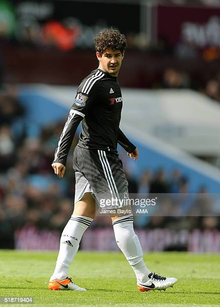 Alexandre Pato of Chelsea during the Barclays Premier League match between Aston Villa and Chelsea at Villa Park on April 2 2016 in Birmingham England