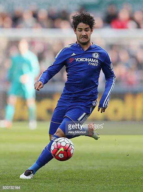 Alexandre Pato of Chelsea during the Barclays Premier League match between Swansea City and Chelsea at the Liberty Stadium on April 9 2016 in Swansea...