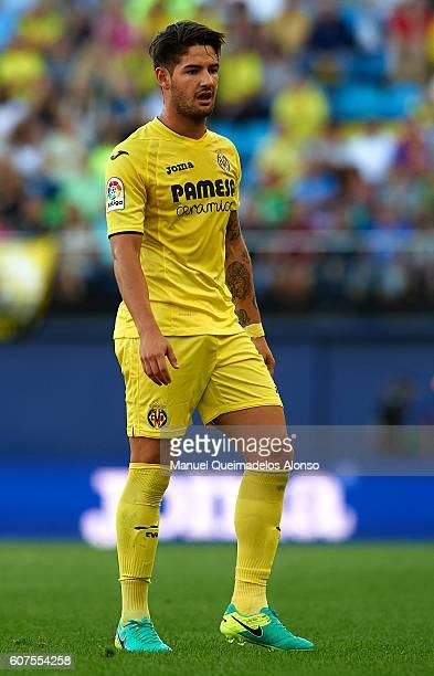 Alexandre Pato of Villarreal looks on during the La Liga match between Villarreal CF and Real Sociedad at El Madrigal on September 18 2016 in...