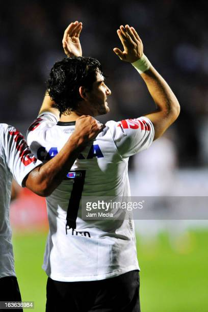Alexandre Pato player of Corinthians celebrate a goal during the match between Corinthians and Tijuana as part of Liberdadores Cup of America at...