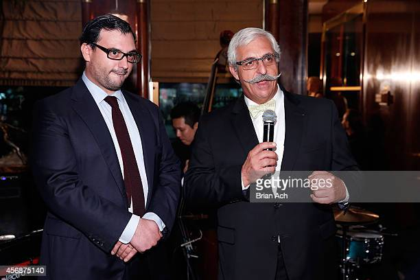 Alexandre Petrossian and Armen Petrossian attend Petrossian's editorial showcase on October 8 2014 in New York City
