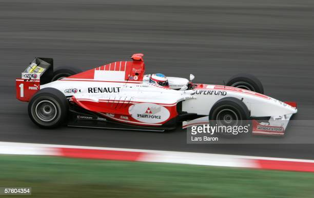 Alexandre Premat of France in action during the GP2 Race at the Circuit De Catalunya on May 13 2006 in Barcelona Spain