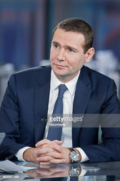 Alexandre Ricard chief executive officer of Pernod Ricard SA pauses during a Bloomberg Television interview in London UK on Monday Feb 16 2015 Pernod...
