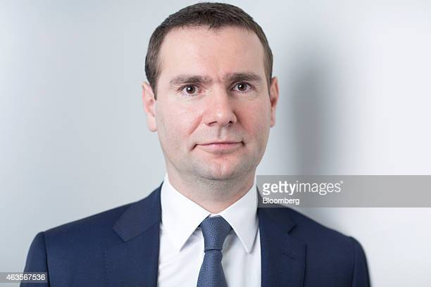 Alexandre Ricard chief executive officer of Pernod Ricard SA poses for a photograph following a Bloomberg Television interview in London UK on Monday...