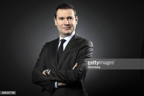 Alexandre Ricard chief executive officer of Pernod Ricard SA poses for a photograph following a Bloomberg Television interview in London UK Tuesday...