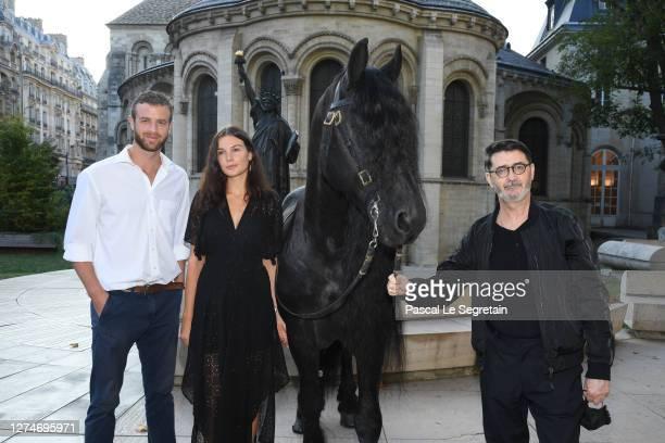 """Alexandre Risso, Jeade Pasquier and Franck Sorbier attend """"Il Medico Della Peste"""" Franck Sorbier Haute Couture Pieces Uniques AW 2020/21 Maitre D'art..."""