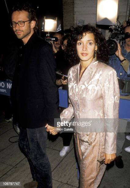 Alexandre Rockwell and Jennifer Beals during New York Film Festival 'Miller's Crossing' at Lincoln Center in New York City New York United States