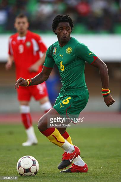 Alexandre Song of Cameroon during the Morocco v Cameroon FIFA2010 World Cup Group A qualifying match at the Complexe Sportif on November 14 2009 in...