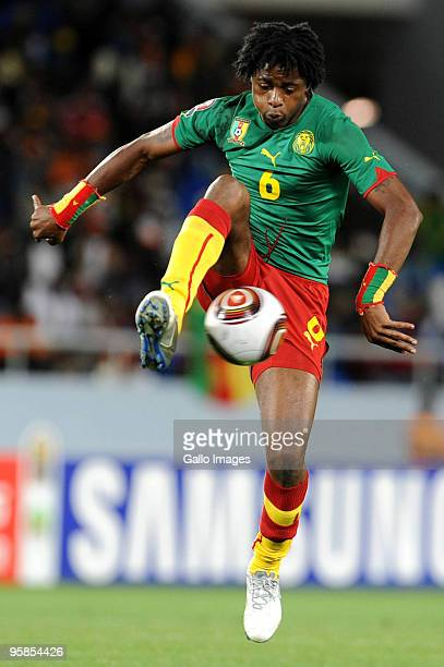 Alexandre Song of Cameroon in action during the African Nations Cup group D match between Cameroon and Zambia at the Tundavala National Stadium on...