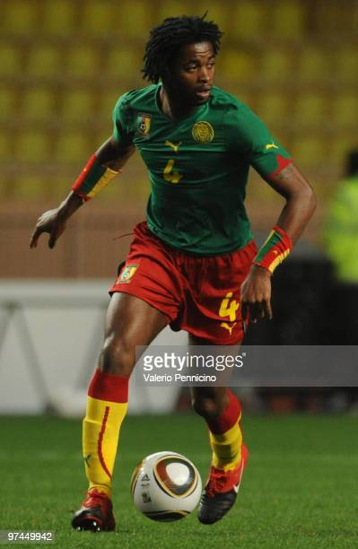 Alexandre Song of Cameroon in action during the International Friendly match between Italy and Cameroon at Louis II Stadium on March 3 2010 in Monaco...