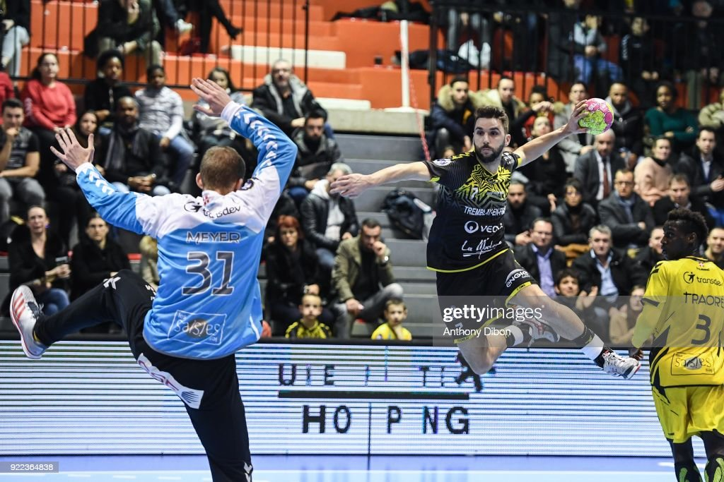 Alexandre Tomas of Tremblay during the Lidl Starligue match between Tremblay and Chambery on February 21, 2018 in Tremblay-en-France, France.